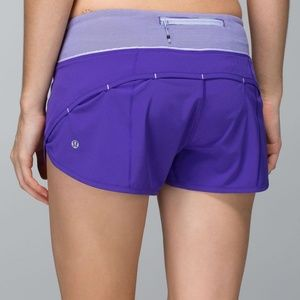 Lululemon Run Speed Short Bruised Berry Sz 2